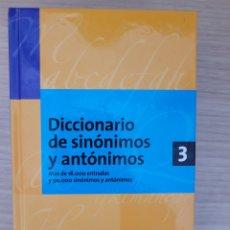 Diccionarios: DICCIONARIO DE SINÓNIMOS Y ANTONIMOS 3 ESPASA. Lote 277163653
