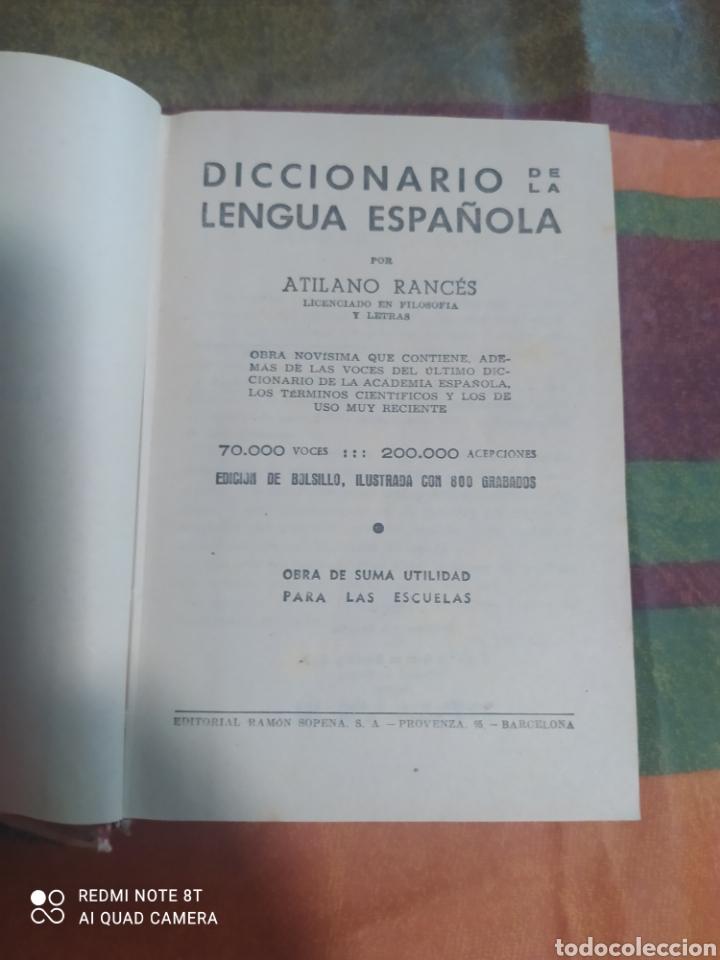 Diccionarios: DICCIONARIO DE LA LENGUA ESPAÑOLA AÑO 1964 - Foto 4 - 277680068