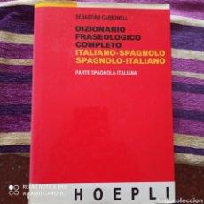 Livres: DICCIONARIO FRASEOLOGICO COMPLETO, ITALIANO & ESPAÑOL, NUEVO CON TIKET DE LA TIENDA.. Lote 278700918