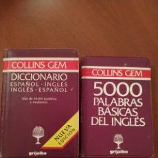 Diccionarios: DICCIONARIO COLLINS GEM MÁS 500 PALABRAS. Lote 280748848