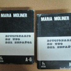 Livres: 2 TOMOS DICCIONARIO DE USO ESPAÑOL MARIA MOLINER. Lote 282004918