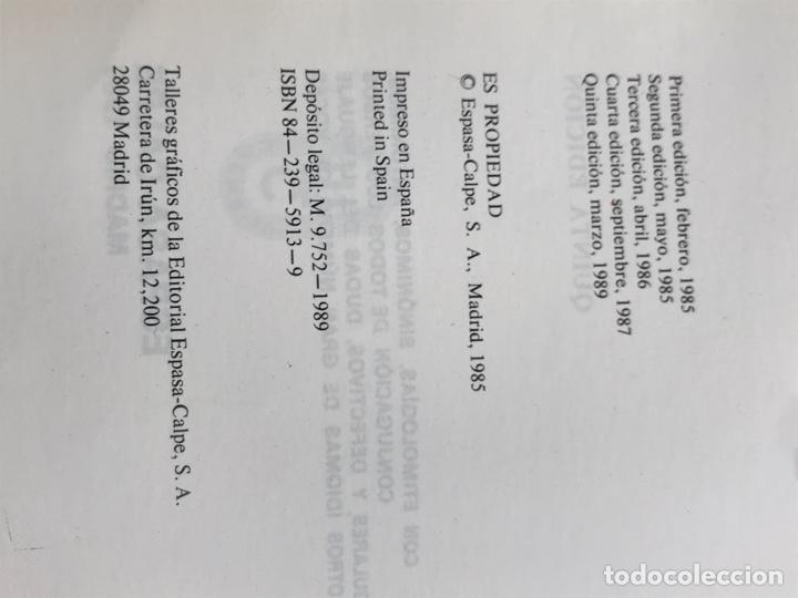 Diccionarios: Diccionario enciclopédico Espasa. 5 edición. 1989 - Foto 6 - 283262623