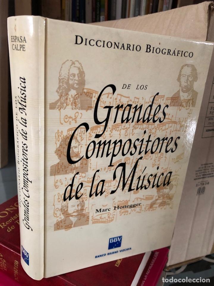 GRANDES COMPOSITORES DE LA MÚSICA - 592 PP - DICCIONARIO BIOGRÁFICO - MARC HONEGGER (Libros Nuevos - Diccionarios y Enciclopedias - Diccionarios)