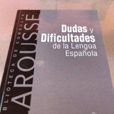 Diccionarios: DUDAS Y DIFICULTADES DE LA LENGUA ESPAÑOLA. Lote 288327088