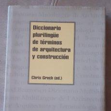 Diccionarios: DICCIONARIO PLURILINGÜE DE ARQUITECTURA. Lote 294950088