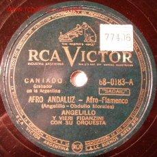 Discos de pizarra: DISCO 78 RPM - RCA VICTOR - ANGELILLO - AFRO FLAMENCO - FARRUCA TANGUILLO - PIZARRA. Lote 5098418