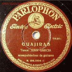 Discos de pizarra: DISCO 78 RPM JUAN GARCÍA. Lote 4657280