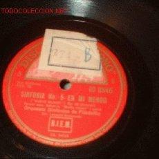Discos de pizarra: DISCO DE GRAMOFONO DE LA VOZ DE SU AMO -SINFONIA Nº5 EN MI MENOR-. Lote 1161030