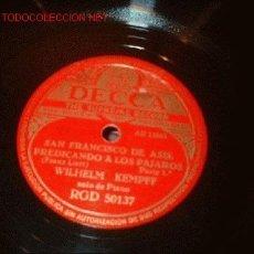 Discos de pizarra: DISCO DE GRAMOFONO DECCA -SAN FRANCISCO DE ASIS Y PREDICANDO A LOS PAJAROS-. Lote 1160968