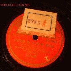 Discos de pizarra: ANTIGUO DISCO DE GRAMOFONO -SINFONIA Nº5 EN MI MENOR-.. Lote 882615