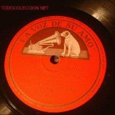 Discos de pizarra: ANTIGUO DISCO DE GRAMOFONO DE LA VOZ DE SU AMO -CONCIERTO Nº1 EN FA SOSTENIDO MENOR-. Lote 882625