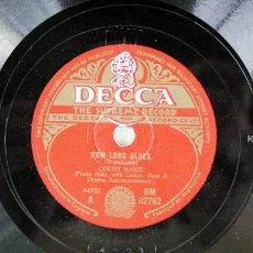 Discos de pizarra: COUNT BASIE AND HIS ORCHESTRA ( BOOGIE WOOGIE - HOW LONG BLUES ) DECCA. Lote 6110963