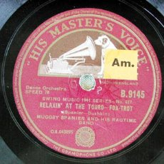 Discos de pizarra: MUGGSY SPANIER AND HIS RAGTIME BAND ( RIVERBOAT SHUFFLE - RELAXIN' AT THE TOURO ). Lote 19391659