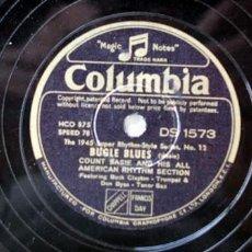 Discos de pizarra: COUNT BASIE HIS ALL AMERICAN RHYTHM SECTION ' BUCK CLAYTON & DON BYAS' (SUGAR BLUES - BUGLE BLUES). Lote 878996