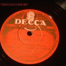 Discos de pizarra: ANTIGUO DISCO DECCA -PEQUEÑA SUITE- 3ER MOV. MINUET Y 4º MOV. BALLET. . Lote 902435