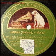 Discos de pizarra: DISCO 78 RPM - GRAMOFONO - TRIO ARGENTINO IRUSTA FUGAZOT DEMARE - TANGO - PIZARRA. Lote 4098266
