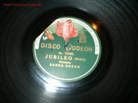 DISCO GRAMOFONO JUBILEO-WEBER (Música - Discos - Pizarra - Otros estilos)