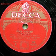Discos de pizarra: JIMMIE LUNCEFORD & ORCHESTRA A- POSIN (VOCAL: WILLIE SMITH) B- PUT ON YOUR OLD GREY BONNET (VOCAL: . Lote 634296