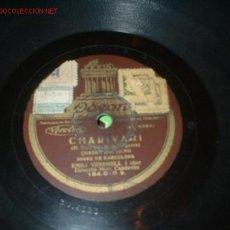 Discos de pizarra: ANTIGUO DISCO DE GRAMOFONO -CHARIVARI- DE EMILIO VENDRELL. HIMNO DE BARCELONA, CON SU FUNDA.. Lote 785570