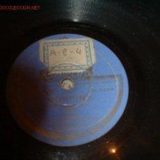 Discos de pizarra: ANTIGUO DISCO DE GRAMOFONO -LA PRINCESA DE LAS OZARDAS- Y -MORFINA- (VALS). Lote 810168