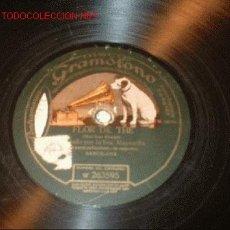 Discos de pizarra: DISCO GRAMÓFONO-FLOR DE THE-LOS AMORIOS DE ANA- SRA. MAYENDÍA. CASA DISCOS LA VOZ DE SU AMO. . Lote 1113320