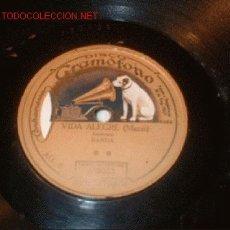 Discos de pizarra: DISCO GRAMÓFONO-VIDA ALEGRE, LAS ZAPATILLAS-VALS. CHUECA. Lote 1142394