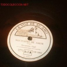 Discos de pizarra: DISCO DE LA VOZ DE SU AMO -NOCTURNO DE AMOR- Y -SERENATA- . Lote 707187