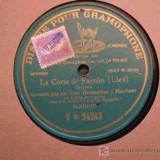 Dischi in gommalacca: LA CORTE DE FARAON. GARROTÍN. POR LOS SRES. GONZALITO Y MARINER. GRAMOPHONE. MADRID. Lote 20015694