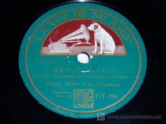 DISCO 78 RPM GLENN MILLER JAZZ (Música - Discos - Pizarra - Jazz, Blues, R&B, Soul y Gospel)