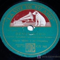 Discos de pizarra: DISCO 78 RPM - VSA - GLENN MILLER - ORQUESTA - DECUIDADO - VERANILLO - JAZZ - PIZARRA. Lote 22789525