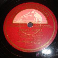 Discos de pizarra: ANTIGUO DISCO GRAMOFONO , GOOSEY, GOOSEY Y DEER BARREL POLKA DE LA VOZ DE SU AMO.. Lote 4649736