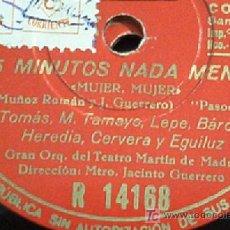 Discos de pizarra: !5 MINUTOS NADA MENOS!. MARUJA TOMAS, MARUJA TAMAYO, LEPE, ETC VER FOTOS!!! BUENA CONSERV. REBAJADO!. Lote 9387000