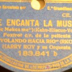 Discos de pizarra: ME ENCANTA LA MUSICA + CARIOCA. DE LA PELICULA VOLANDO HACIA RIO. VER FOTOS!!. Lote 7875057