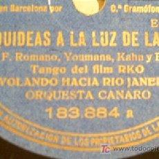 Discos de pizarra: ORQUIDEAS A LA LUZ DE LA LUNA + NEGRITA DE MI ALMA. VER FOTOS!!!!MUY BUENA CONSERVACION!!!!. Lote 14380285