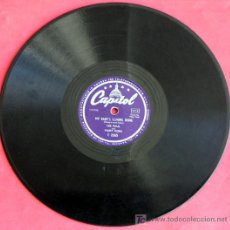 Discos de pizarra: LOUIS ARMSTRONG & HIS ORCHESTRA (ON THE SUNNY SIDE OF THE STREET PART I Y II ) BRUNSWICK. Lote 5844739