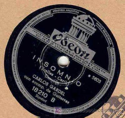 Discos de pizarra: disco de gramofono de Carlos Gardel, BESOS QUE MATAN - Foto 3 - 27268157