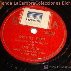 Discos de pizarra: ANTIGUO DISCO DE GRAMOFONO, ORIGINAL DE LOS AÑOS 20/30.. Lote 6107938
