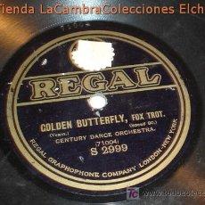 Discos de pizarra: ANTIGUO DISCO DE GRAMOFONO REGAL, ORIGINAL DE LOS AÑOS 20/30.. Lote 6108015
