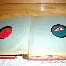 Discos de pizarra: ALBUM DE 12 DISCOS DE PIZARRA. Lote 26807752