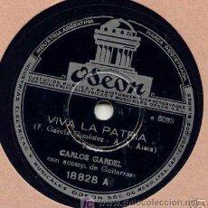 Discos de pizarra: PARA GRAMOFONO O GRAMOLA, CARLOS GARDEL, EL SOL DEL 25. Lote 26323014