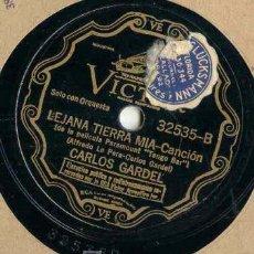 Discos de pizarra: CARLOS GARDEL, DISCO DE PELICULA. Lote 27587015