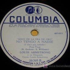 Discos de pizarra: DISCO 78 RPM - LOUIS ARMSTRONG Y SU ORQUESTA - ST. LOUIS BLUES - COLUMBIA - DISCO DE PIZARRA. Lote 7829555