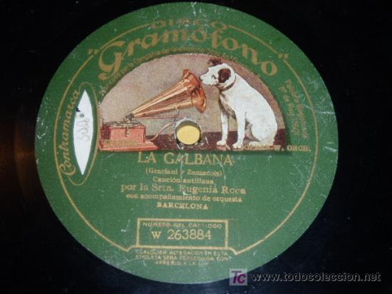 DISCO 78 RPM - EUGENIA ROCA - ORQUESTA - GRAMÓFONO - CANCION ANTILLANA - BARCELONA - PIZARRA (Música - Discos - Pizarra - Flamenco, Canción española y Cuplé)