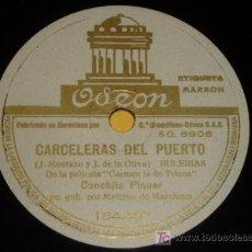 Discos de pizarra: DISCO 78 RPM - CONCHITA PIQUER CON LA GUITARRA DE MELCHOR DE MARCHENA - CARCELERAS DEL PUERTO. Lote 10044148