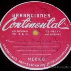Discos de pizarra: DISCO 78 RPM - LUIS BRIONES / JULIO FLORES - RARO ACETATO MÉXICO - GRABACIÓN PRIVADA - PASODOBLES. Lote 7838918