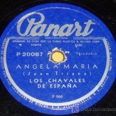 Discos de pizarra: DISCO 78 RPM - LOS CHAVALES DE ESPAÑA - PANART GRABADO EN CUBA - PASODOBLE Y FADO - PIZARRA. Lote 7841062