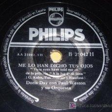 Dischi in gommalacca: DISCO 78 RPM - DORIS DAY CON PAUL WESTON Y SU ORQUESTA - PHILIPS - A LA LUZ DE LA LUNA - PIZARRA. Lote 7849749