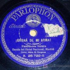 Discos de pizarra: DISCO 78 RPM - LOLITA MÉNDEZ - BANDA HOTEL NACIONAL - PASODOBLE - PARLOPHON - PIZARRA. Lote 7885892