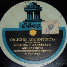 Discos de pizarra: DISCO 78 RPM - ENCARNACIÓN LÓPEZ LA ARGENTINITA - ORQUESTA - ZAPATEADO - ODEON - PIZARRA. Lote 8458881