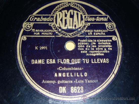 Discos de pizarra: DISCO 78 RPM - ANGELILLO - GUITARRA LUIS YANCE - FLAMENCO - REGAL - DISCO DE PIZARRA - Foto 1 - 8459714